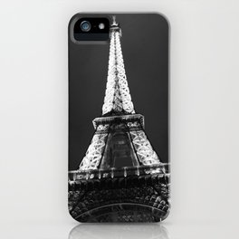 retro eiffel tower  iPhone Case
