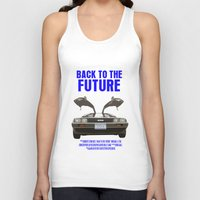 back to the future Tank Tops featuring Back To The Future by FunnyFaceArt