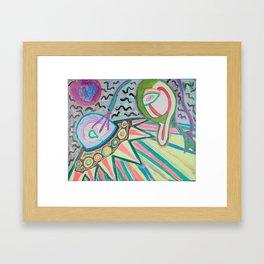 """ALIEN SNATCH"" (7001) - FLUORESCENT/GLOWS IN BLACKLIGHT Framed Art Print"
