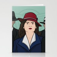agent carter Stationery Cards featuring Agent Carter by saintsandstorms