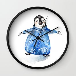 Baby Penguin in Onsie Wall Clock