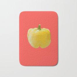 Yellow bell pepper Bath Mat