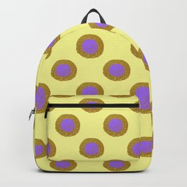 Gold & Purple Circles Backpack