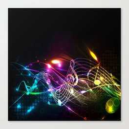 Music Notes in Color Canvas Print
