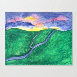 Evening Over the Valley Canvas Print