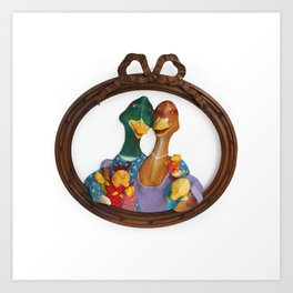 DUCK FAMILY Art Print