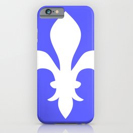 Fleur de Lis (White & Azure) iPhone Case