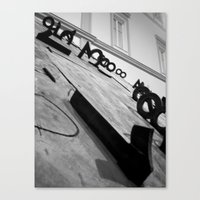 numbers Canvas Prints featuring Numbers by Enrico Ponzoni