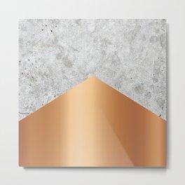 Concrete Arrow Rose Gold #147 Metal Print