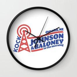 Johnson & Baloney Wall Clock