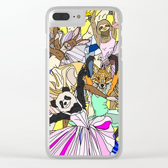 Party Animals Dancing Clear iPhone Case
