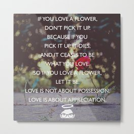 Love is about Appreciation! Metal Print