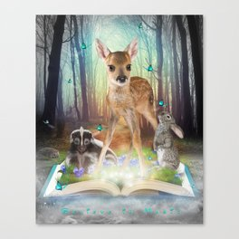 Believe In Magic • (Bambi Forest Friends Come to Life) Canvas Print