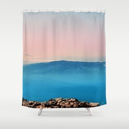 La Gomera, El Hierro from the top of Teide Shower Curtain