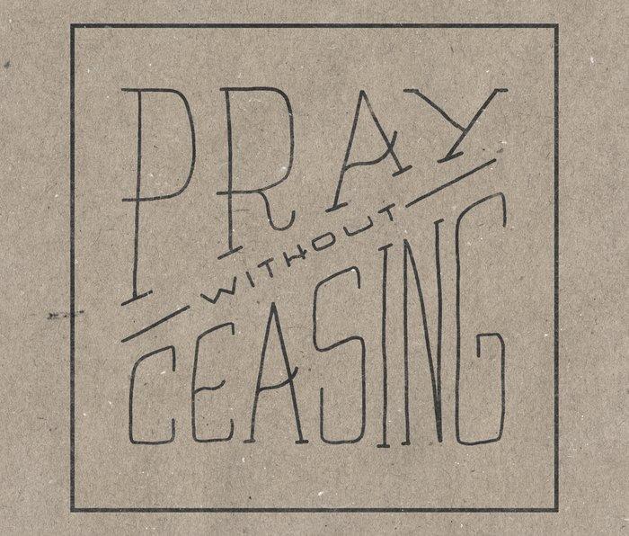 Pray Without Ceasing Metal Travel Mug