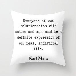 68    Karl Marx Quotes   190817 Throw Pillow