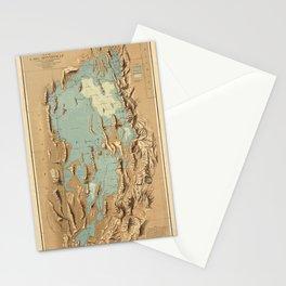 Map Of Lake Bonneville 1900 Stationery Cards