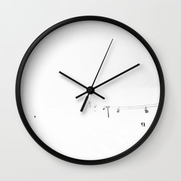 White Caps/White out Wall Clock