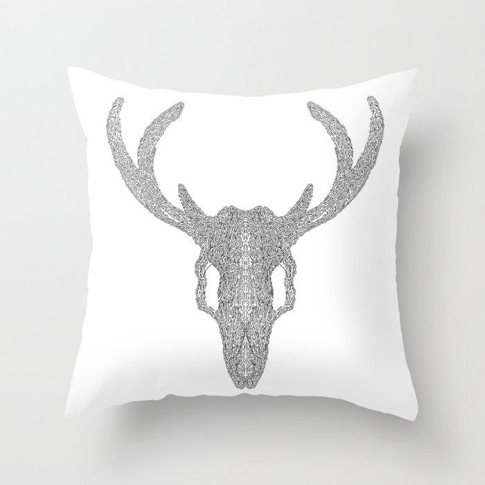 Mr Deer Throw Pillow