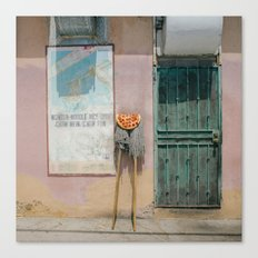 Pizza Mop Canvas Print