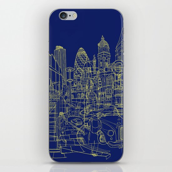 London! Navy iPhone & iPod Skin