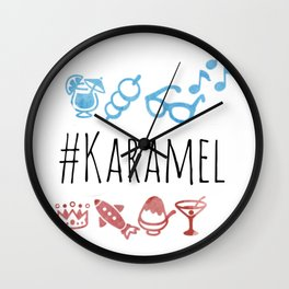 karamel emoji Wall Clock