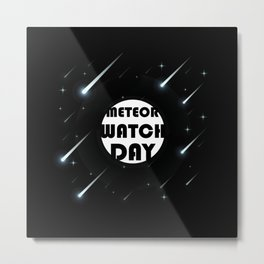 Meteor Watch Day June 30th Astronomy Metal Print