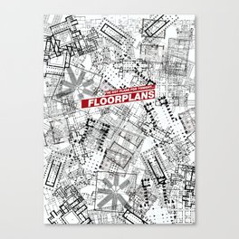 Floorplans! Canvas Print