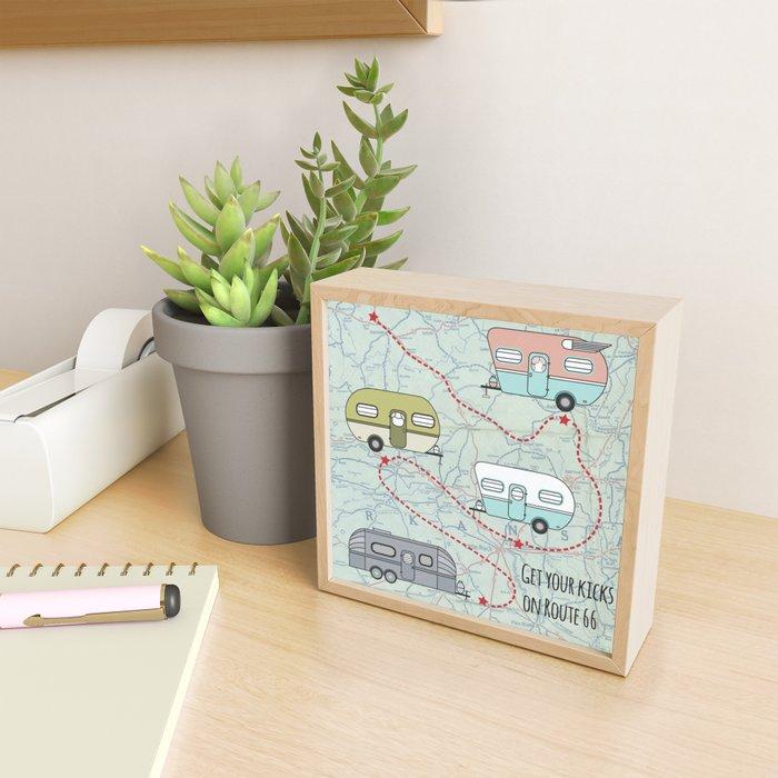 Get Your Kicks Framed Mini Art Print