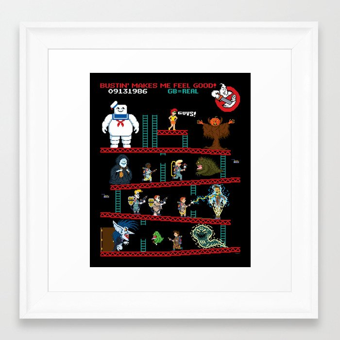 The Real Donkey Puft Framed Art Print