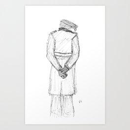 Flat Cap Man Art Print