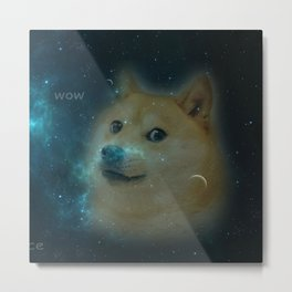 shibe doge in space Metal Print