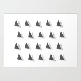 black and grey Art Print