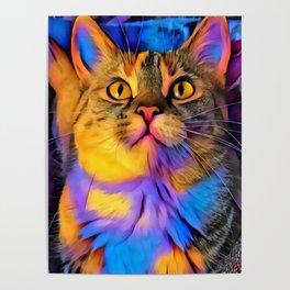 Maisy Cat Digital Manipulation Poster