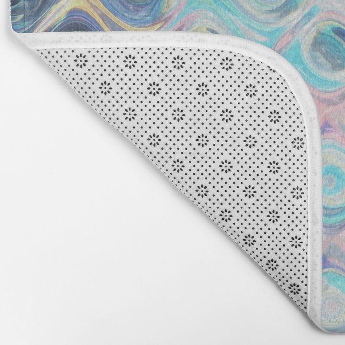 Reflecting Circles of Color Bath Mat