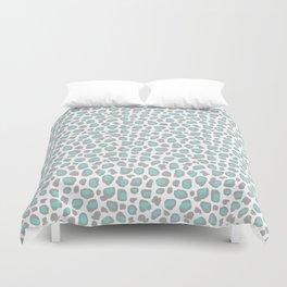 Leopard Animal Print Aqua Blue Gray Grey Spots Duvet Cover