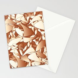 Pattern brown 156 Stationery Cards