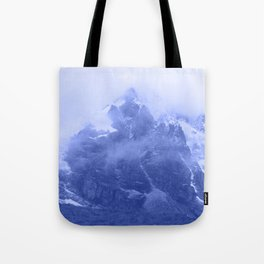Rocky Mountain Fog Blue Tote Bag