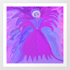 Angel Of The Flowers  Art Print
