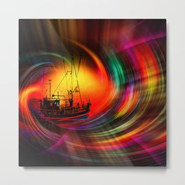 Our world is a magic - Time Tunnel 5 Metal Print