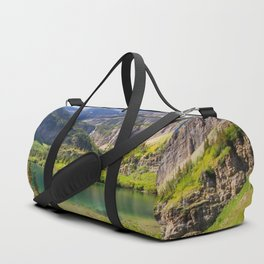 Lake in the mountains Duffle Bag