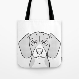Beagle Portrait Print -Black and White Halftone Tote Bag