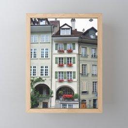 Swiss Buildings Framed Mini Art Print
