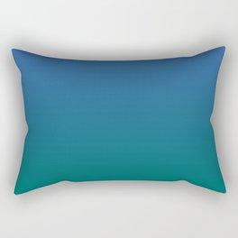 Blue Quetzal Green Gradient Pattern Rectangular Pillow