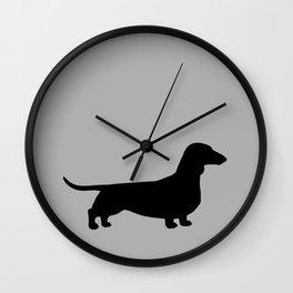 Dachshund Silhouette Wall Clock