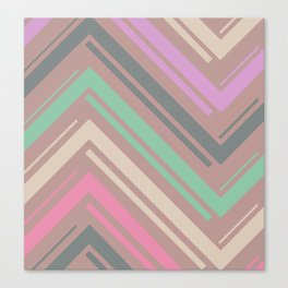 Mauve Zigzag Pattern Canvas Print