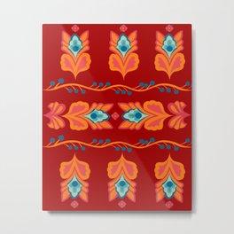 Asian Pattern Metal Print