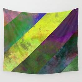 45 Degrees - Abstract, textured, diagonal stripes Wall Tapestry