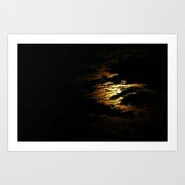 Clouded Moon Art Print