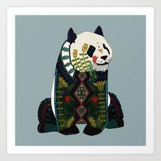 panda silver Art Print